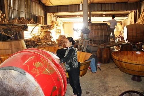 Xưởng sản xuất ở làng trống Ðọi Tam Hà Nam
